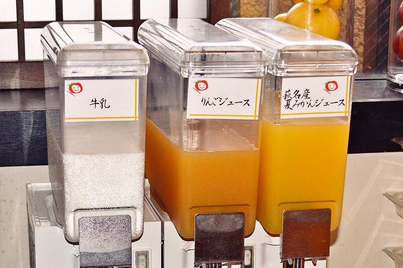 萩名産の夏みかんジュース
