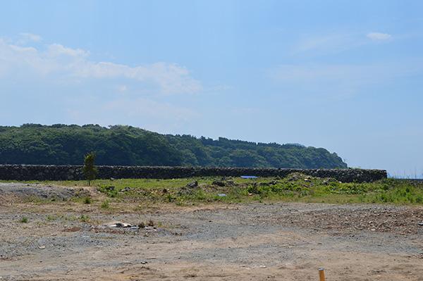 洋式木造帆船の造船所(ドック)跡