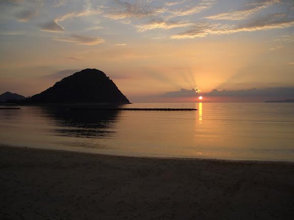 菊ヶ浜海水浴場 夕陽