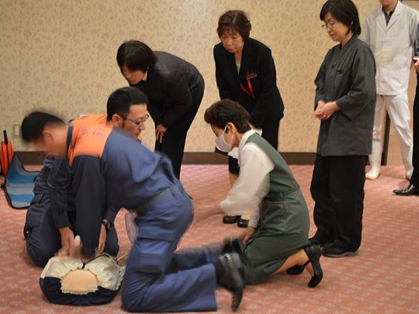 消防訓練AED