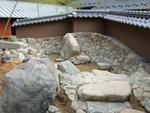 土塀露天風呂