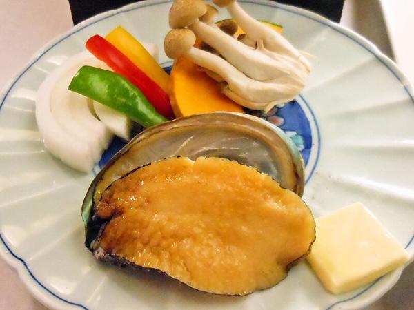 アワビの海鮮焼き