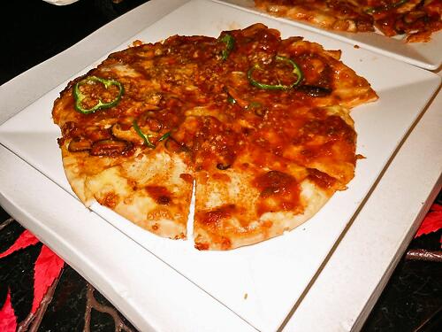 木の子ピザ
