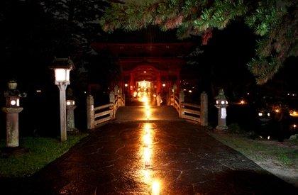 金谷神社の「幽玄の世界」