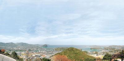 萩本陣展望台からの眺め
