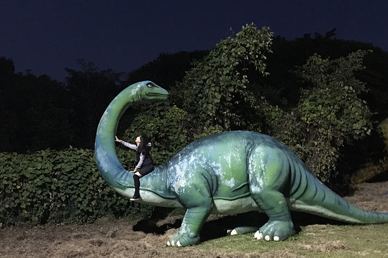 恐竜たちもお出迎え